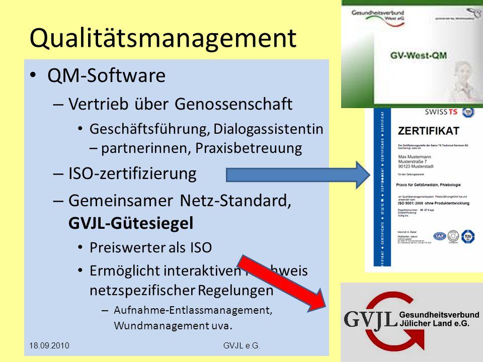 Qualitätsmanagement QM-Software – Vertrieb über Genossenschaft Geschäftsführung, Dialogassistentin – partnerinnen, Praxisbetreuung – ISO-zertifizierun