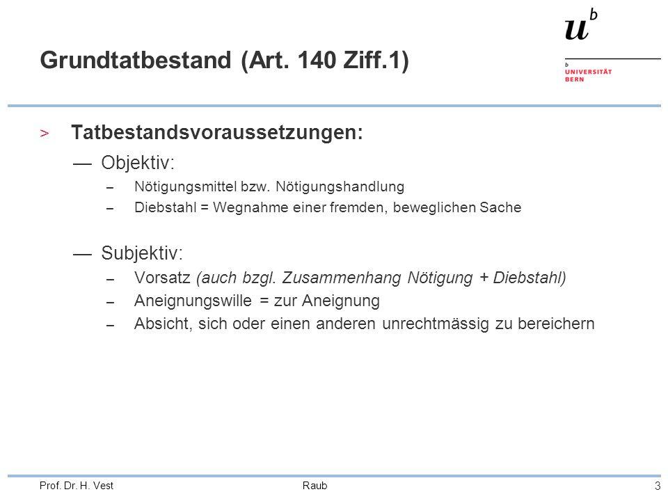 Raub 3 Prof. Dr. H. Vest Grundtatbestand (Art.