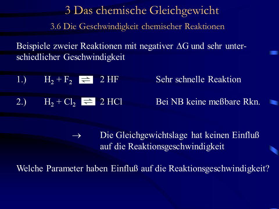 3 Das chemische Gleichgewicht 3.6 Die Geschwindigkeit chemischer Reaktionen KatalyseBeispiel: Ammoniaksythese