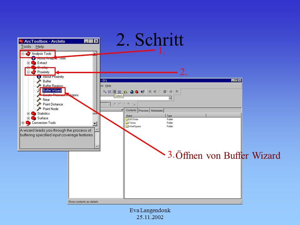 Eva Langendonk 25.11.2002 Anwendung in ArcToolbox 1.