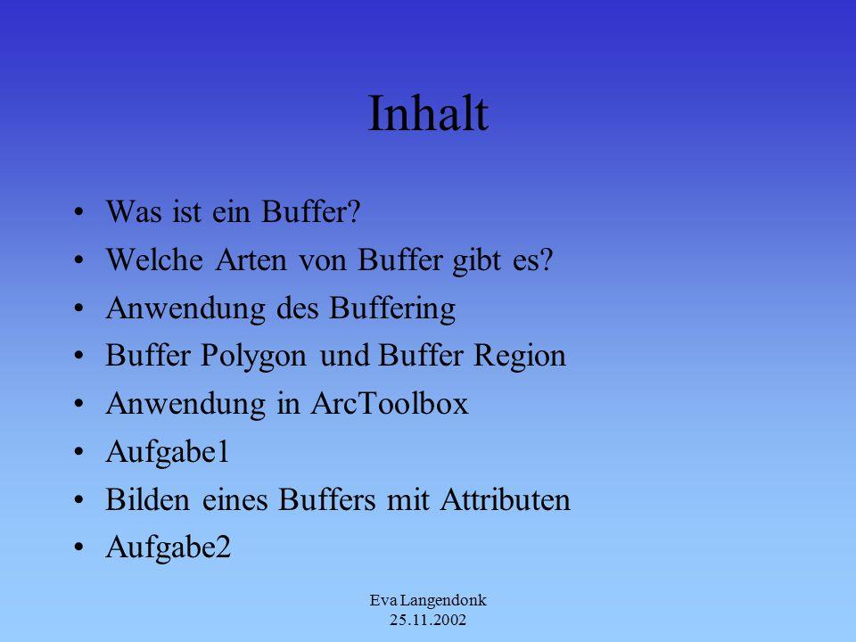 Eva Langendonk 25.11.2002 Inhalt Was ist ein Buffer.