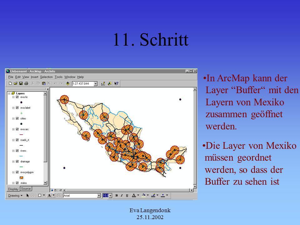 Eva Langendonk 25.11.2002 10. Schritt In ArcCatalog ist nun das Output Coverage zu finden
