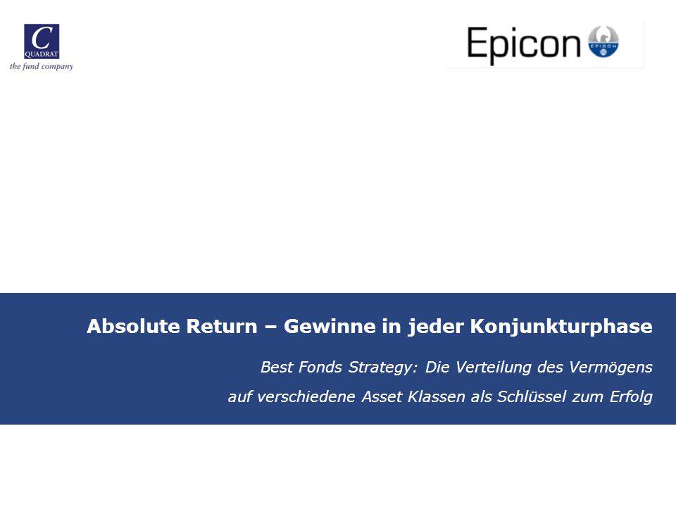 Absolute Return – Gewinne in jeder Konjunkturphase Best Fonds Strategy: Die Verteilung des Vermögens auf verschiedene Asset Klassen als Schlüssel zum Erfolg