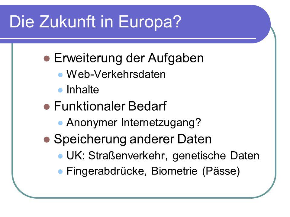 Die Zukunft in Europa.