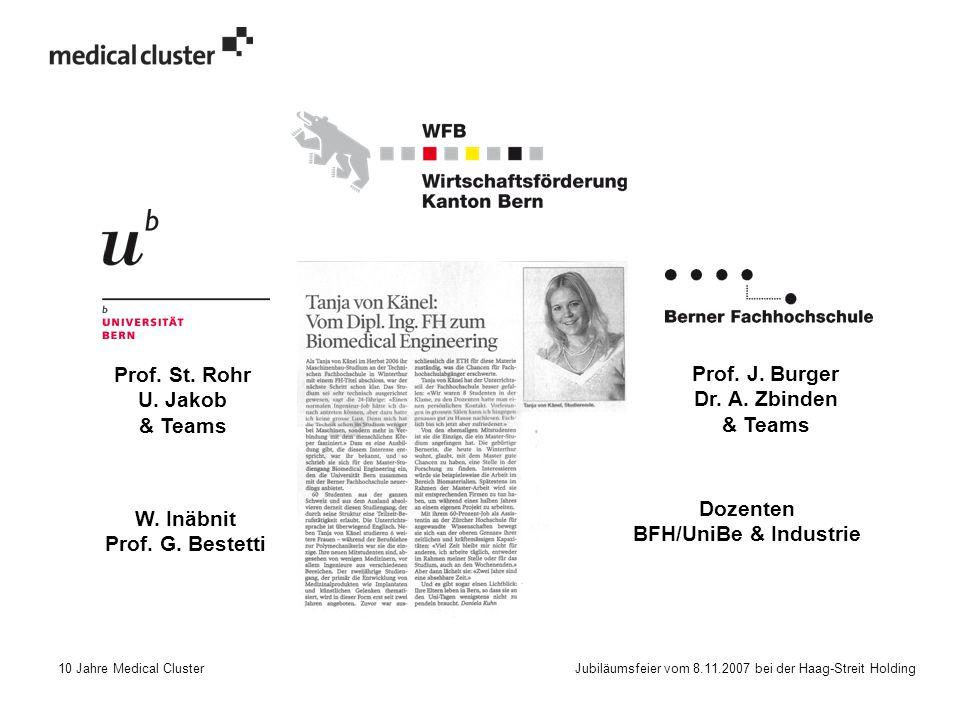 10 Jahre Medical Cluster Jubiläumsfeier vom 8.11.2007 bei der Haag-Streit Holding Prof.
