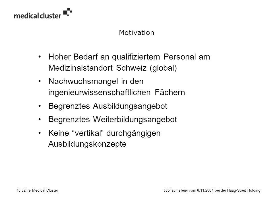 10 Jahre Medical Cluster Jubiläumsfeier vom 8.11.2007 bei der Haag-Streit Holding