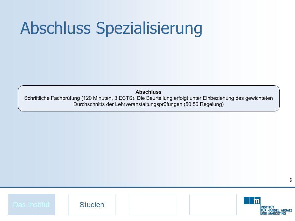 9 Abschluss Spezialisierung Das InstitutStudien