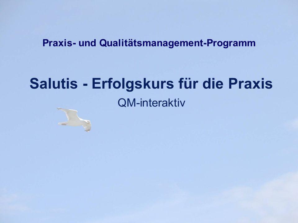 """Wir wünschen Ihnen viel Erfolg mit """"Salutis-Erfolgskurs für die Praxis QM interaktiv ."""