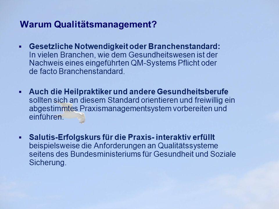 Warum TQM – Total Quality Management. Zukunftssicherung.