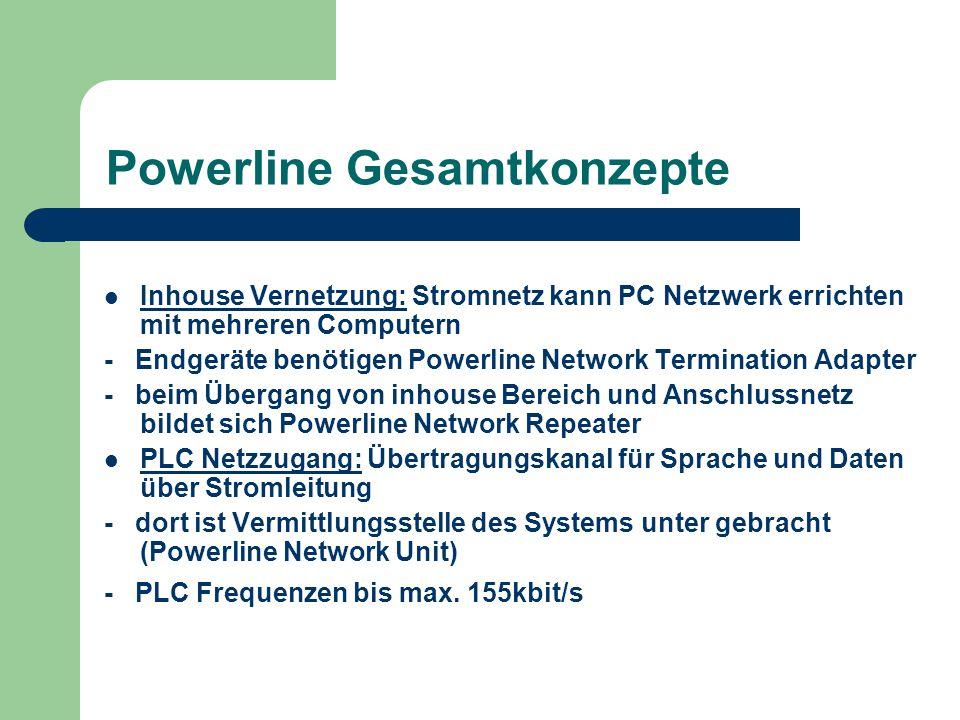 Powerline Gesamtkonzepte Inhouse Vernetzung: Stromnetz kann PC Netzwerk errichten mit mehreren Computern - Endgeräte benötigen Powerline Network Termi