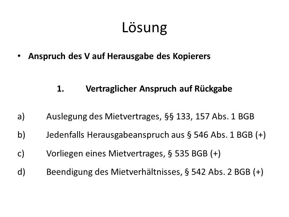 b)Voraussetzungen der §§ 823 Abs.1, 249 Abs.