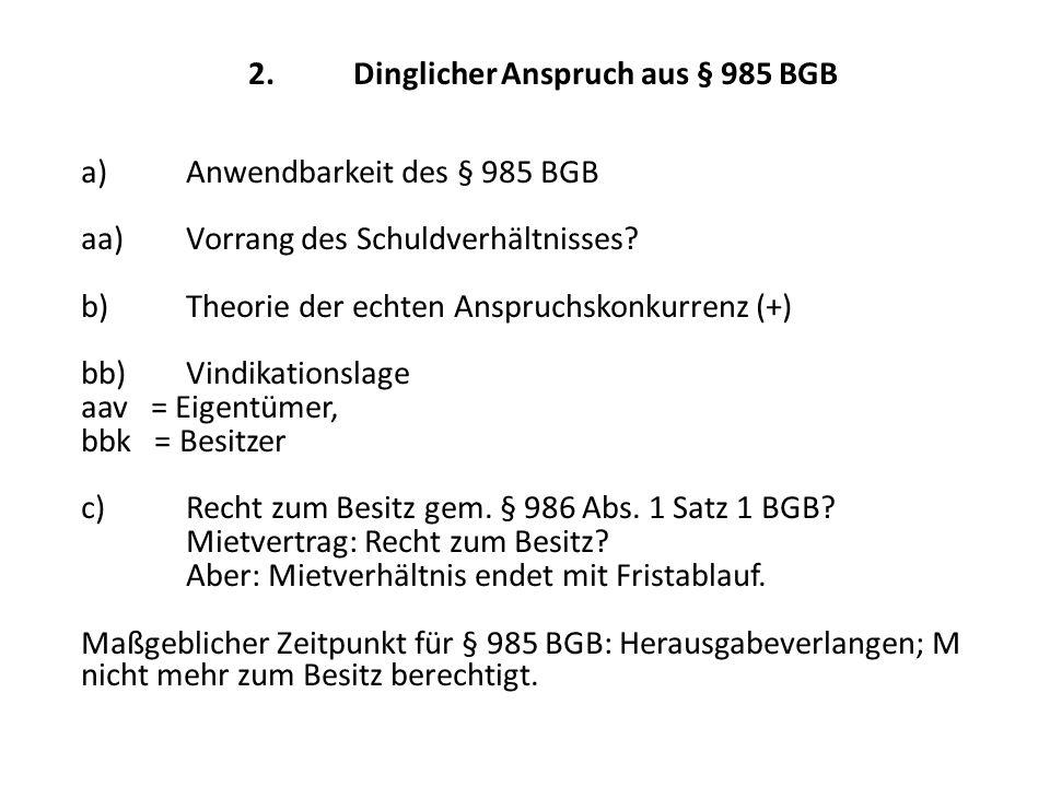3.Anspruch aus § 812 Abs.