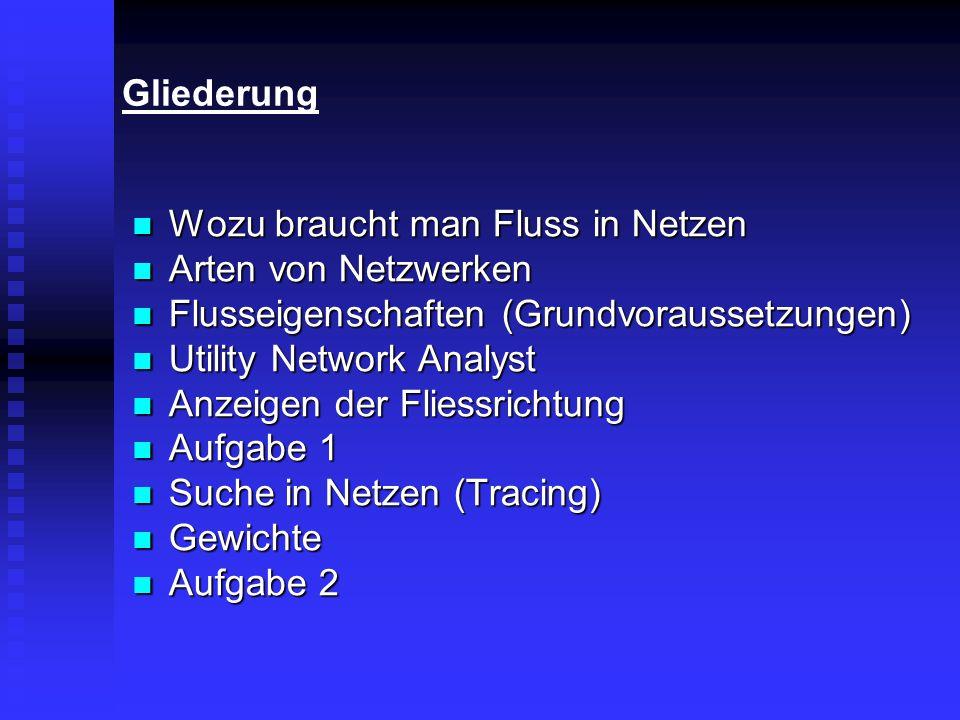 Gliederung Wozu braucht man Fluss in Netzen Wozu braucht man Fluss in Netzen Arten von Netzwerken Arten von Netzwerken Flusseigenschaften (Grundvoraus
