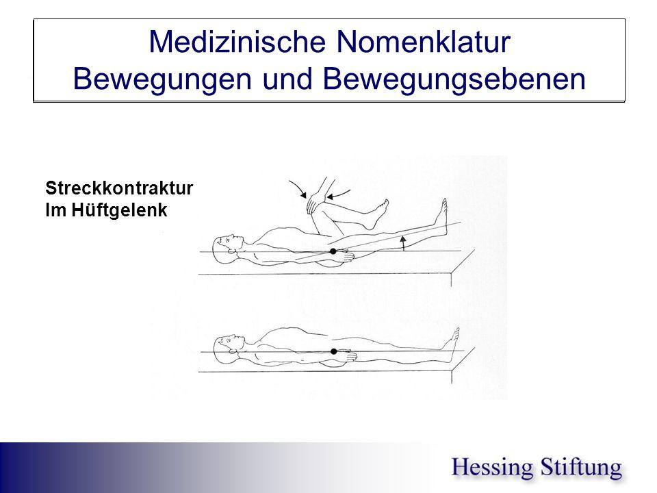 Hüfte Streckkontraktur Medizinische Nomenklatur Bewegungen und Bewegungsebenen Streckkontraktur Im Hüftgelenk