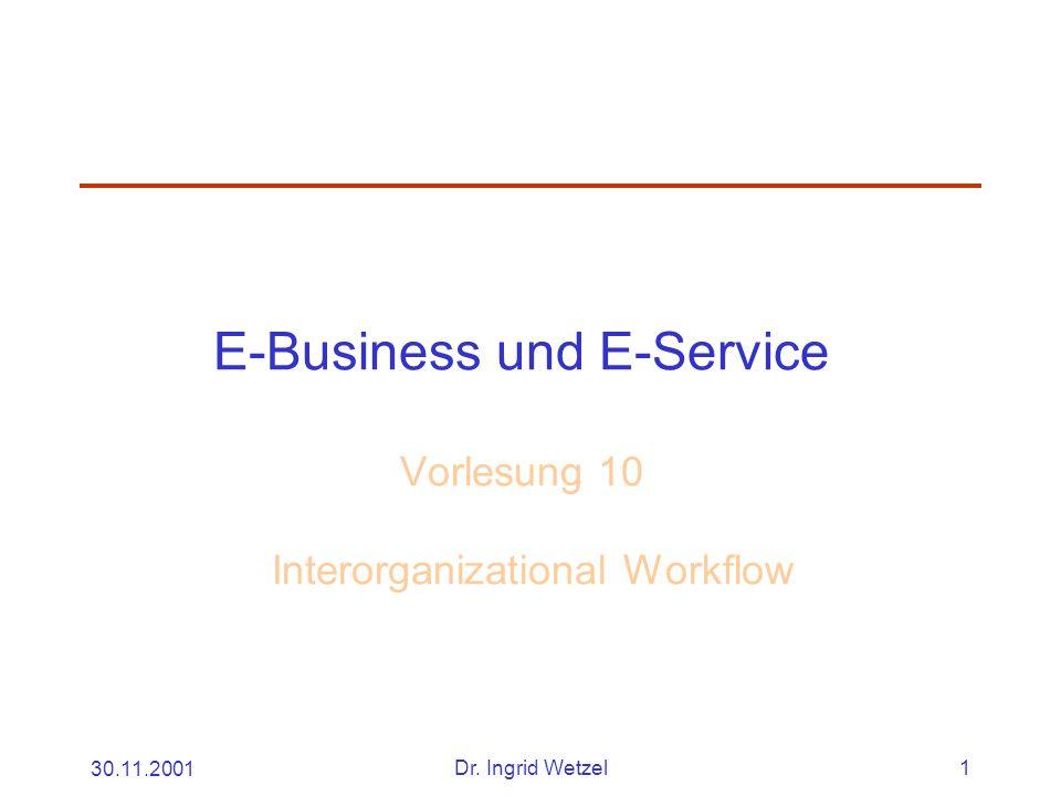 30.11.2001Dr. Ingrid Wetzel12 Attribute von
