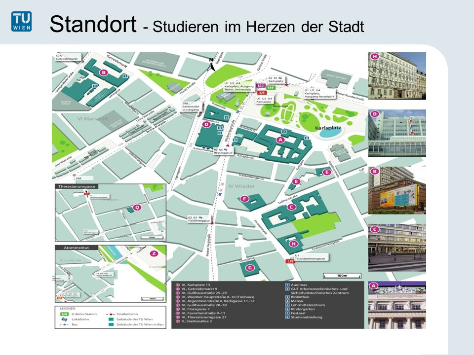 Standort - Studieren im Herzen der Stadt