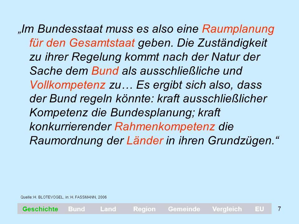 """18 Verfassungsrechtlicher Rahmen in Österreich § 15 (BVG): """"Soweit eine Angelegenheit nicht ausdrücklich durch die Bundesverfassung der Gesetzgebung oder auch der Vollziehung des Bundes übertragen ist, verbleibt sie im selbständigen Wirkungsbereich der Länder ."""