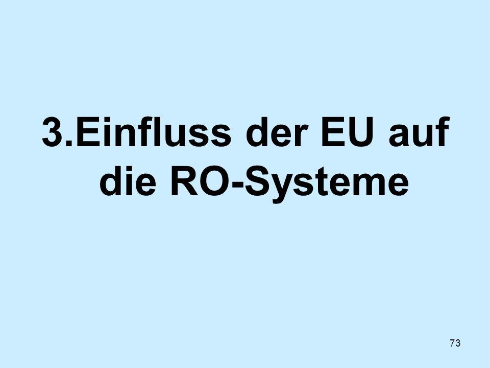73 3.Einfluss der EU auf die RO-Systeme