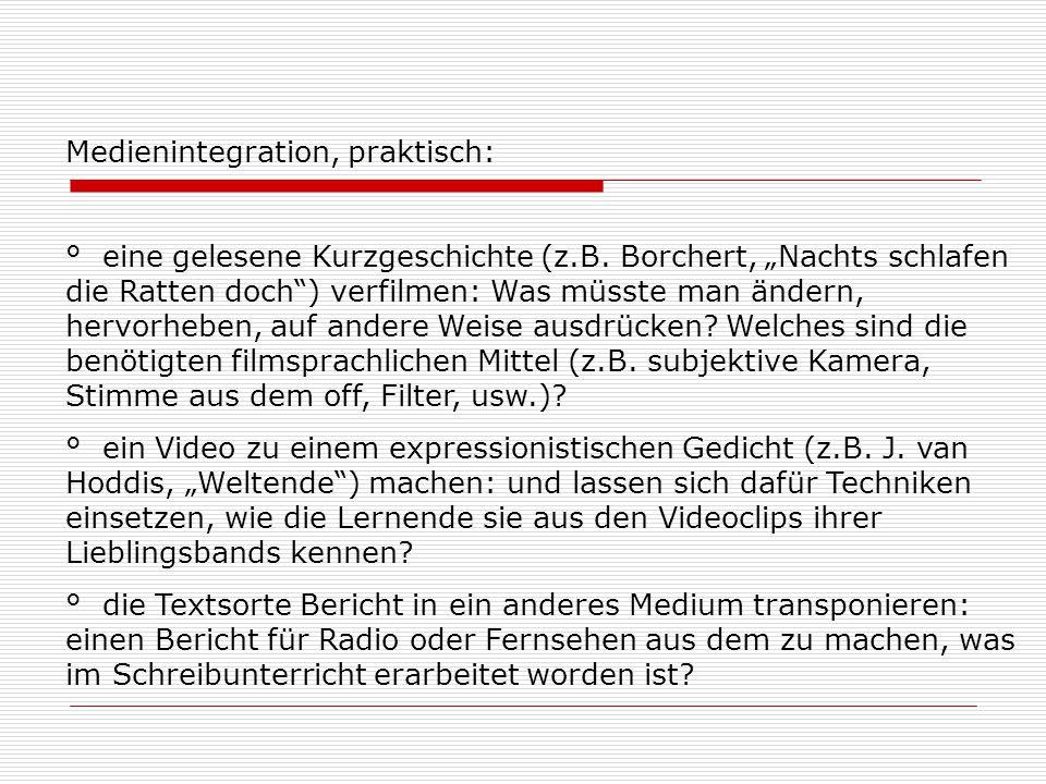Literatur zu 2. Bertschi-Kaufmann, Andrea: Lesen und Schreiben in einer Medien-um- gebung.