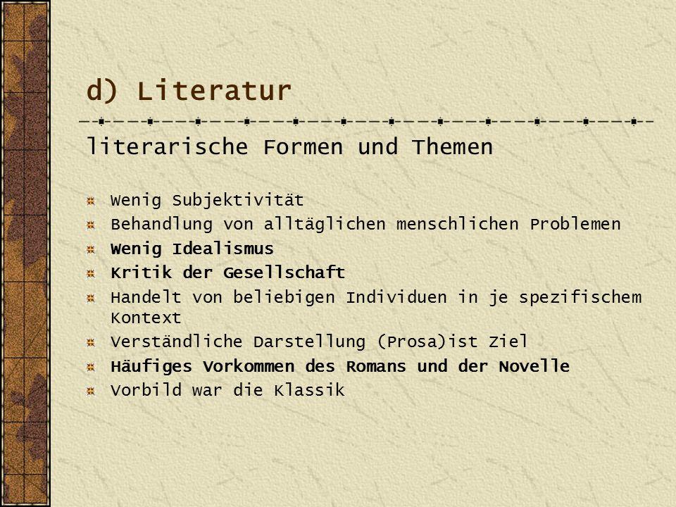 e) Themen Großstadtleben Hunger Kinder Armut Not und Elend Prostitution Alkoholsucht Berlin und München waren die deutschen Hochburgen des Naturalismus.