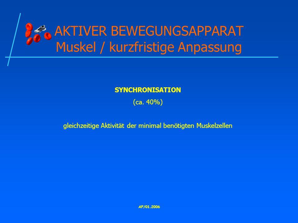 AF/01.2006 AKTIVER BEWEGUNGSAPPARAT Muskel / kurzfristige Anpassung SYNCHRONISATION (ca.
