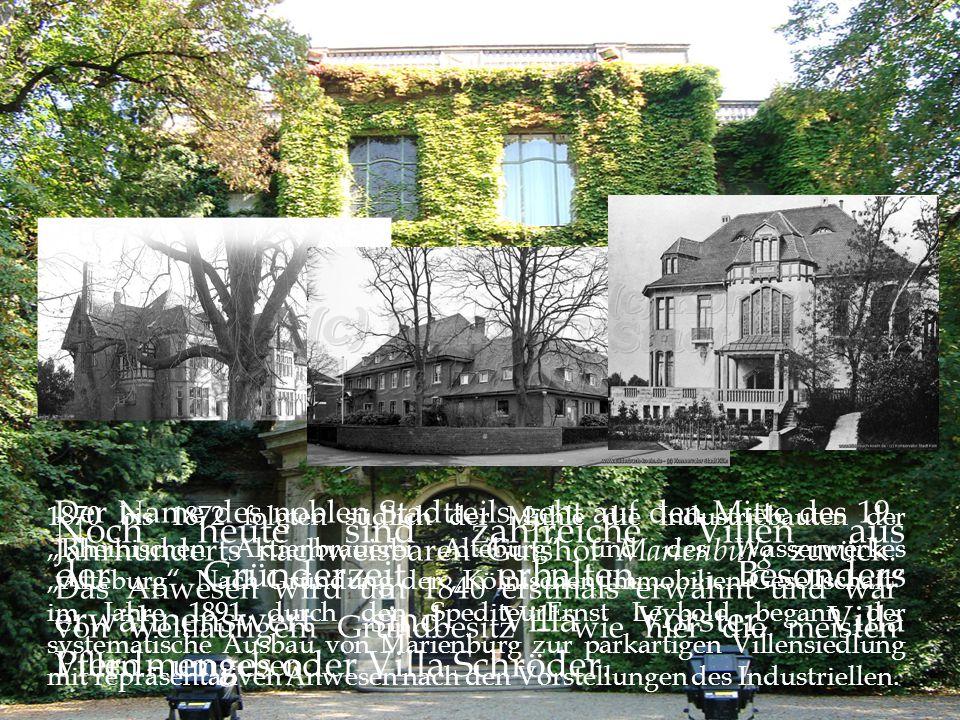 Der Name des noblen Stadtteils geht auf den Mitte des 19.