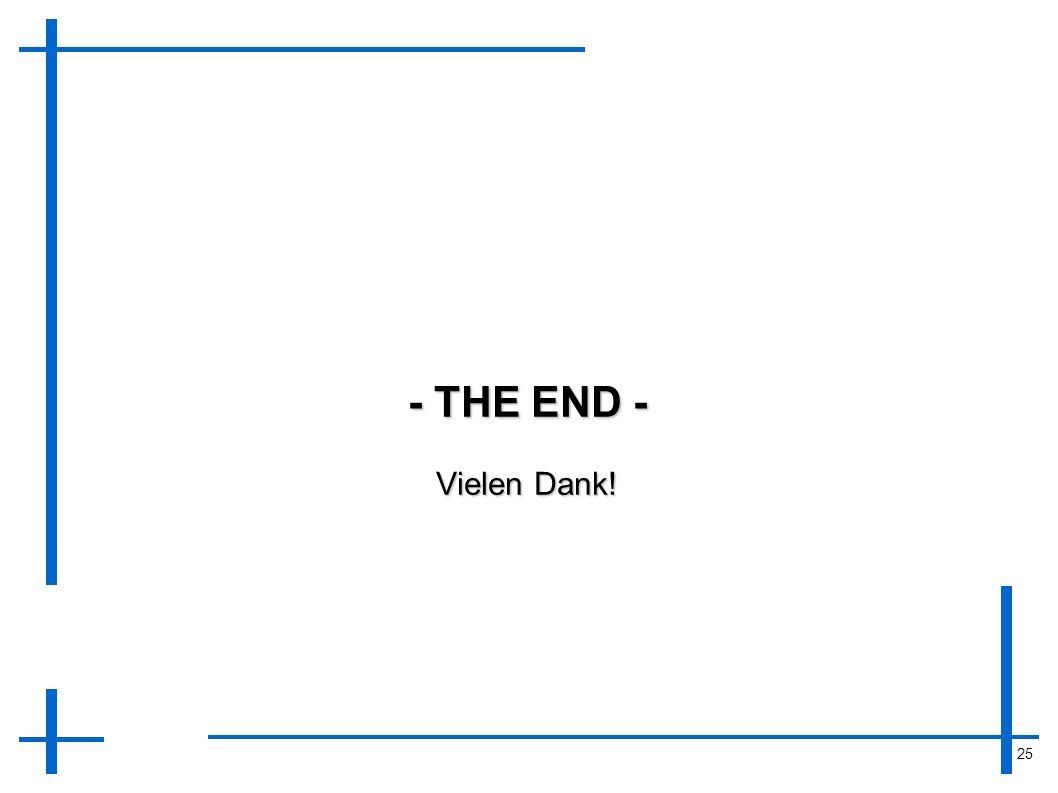 25 - THE END - Vielen Dank!