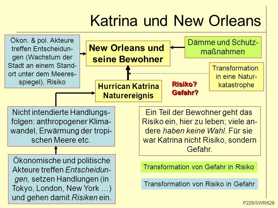 Katrina und New Orleans P229/SWRK26 New Orleans und seine Bewohner Hurrican Katrina Naturereignis Transformation in eine Natur- katastrophe Ökonomisch
