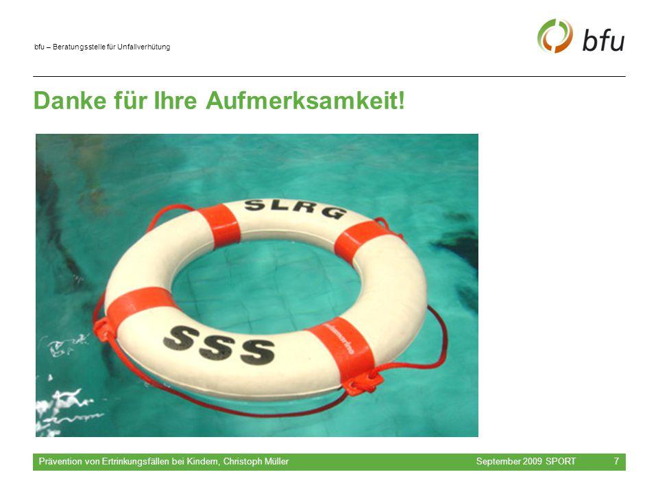bfu – Beratungsstelle für Unfallverhütung Danke für Ihre Aufmerksamkeit.