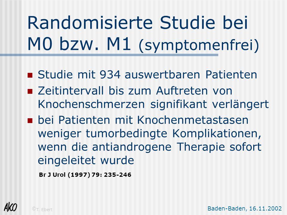 Baden-Baden, 16.11.2002 © T. Ebert Studie mit 934 auswertbaren Patienten Zeitintervall bis zum Auftreten von Knochenschmerzen signifikant verlängert b