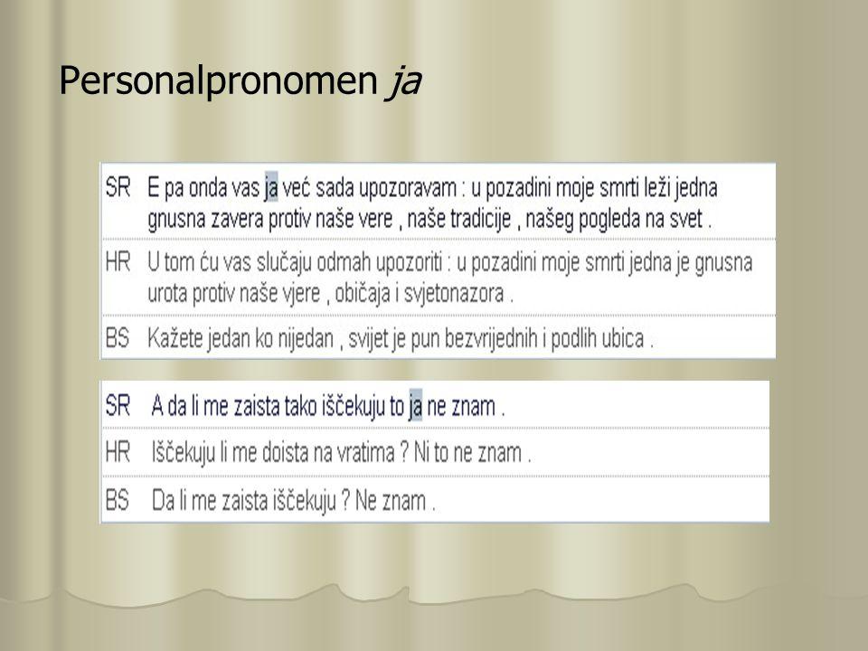 Personalpronomen ja