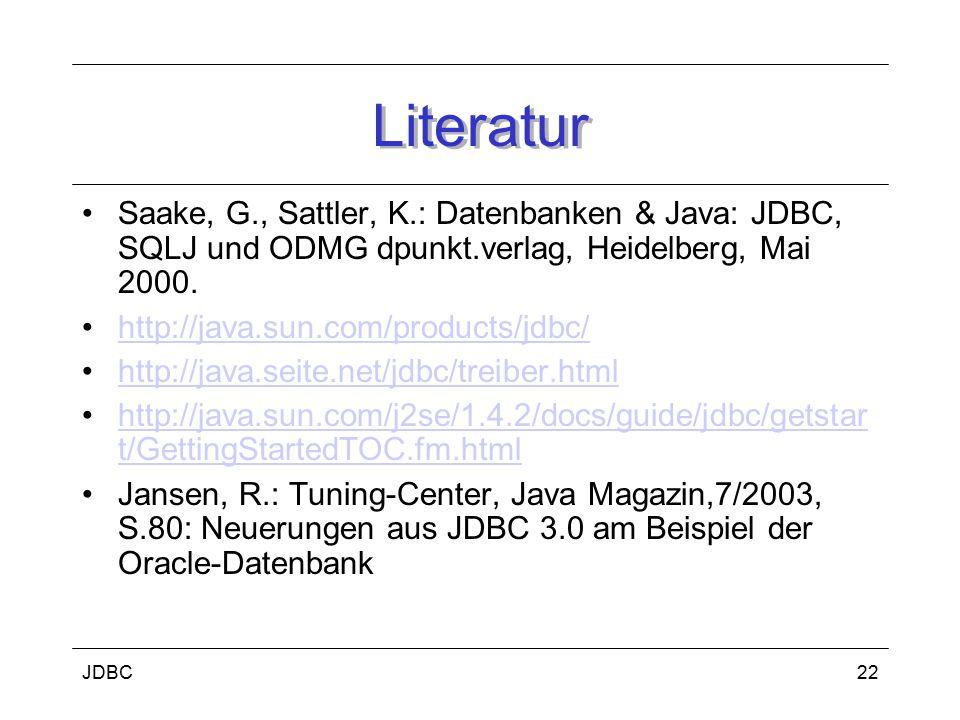 JDBC23 Transaktionen i.d.R.