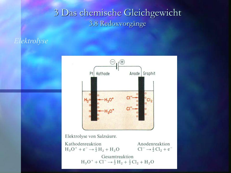 3 Das chemische Gleichgewicht 3.8 Redoxvorgänge Elektrolyse