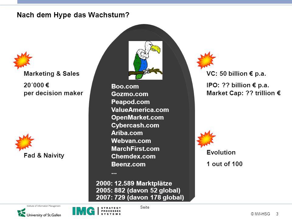 """24 © IWI-HSG Seite Individuelle Konsequenzen  Die Wirtschaft ist in der Transformation vom Industrie- ins Informationszeitalter (""""The hype goes, the net grows )."""