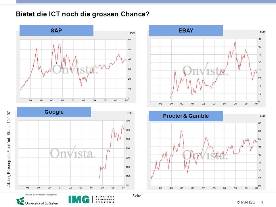 4 © IWI-HSG Seite Bietet die ICT noch die grossen Chance.