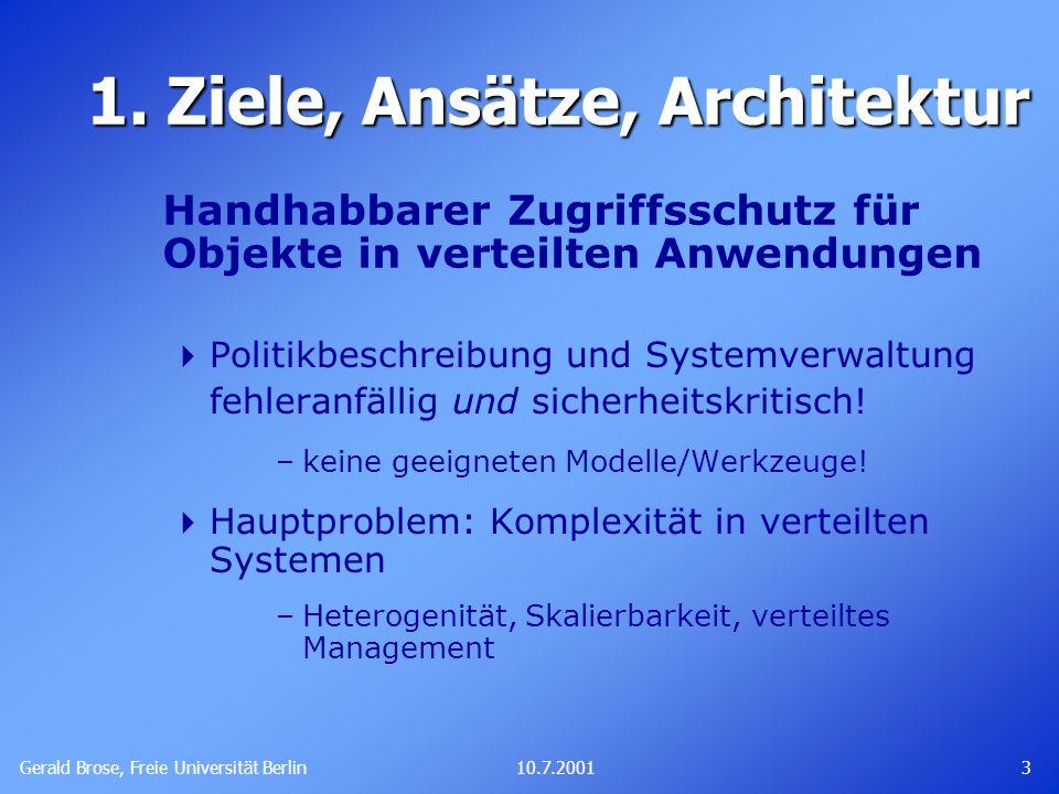 Gerald Brose, Freie Universität Berlin 310.7.2001 1.