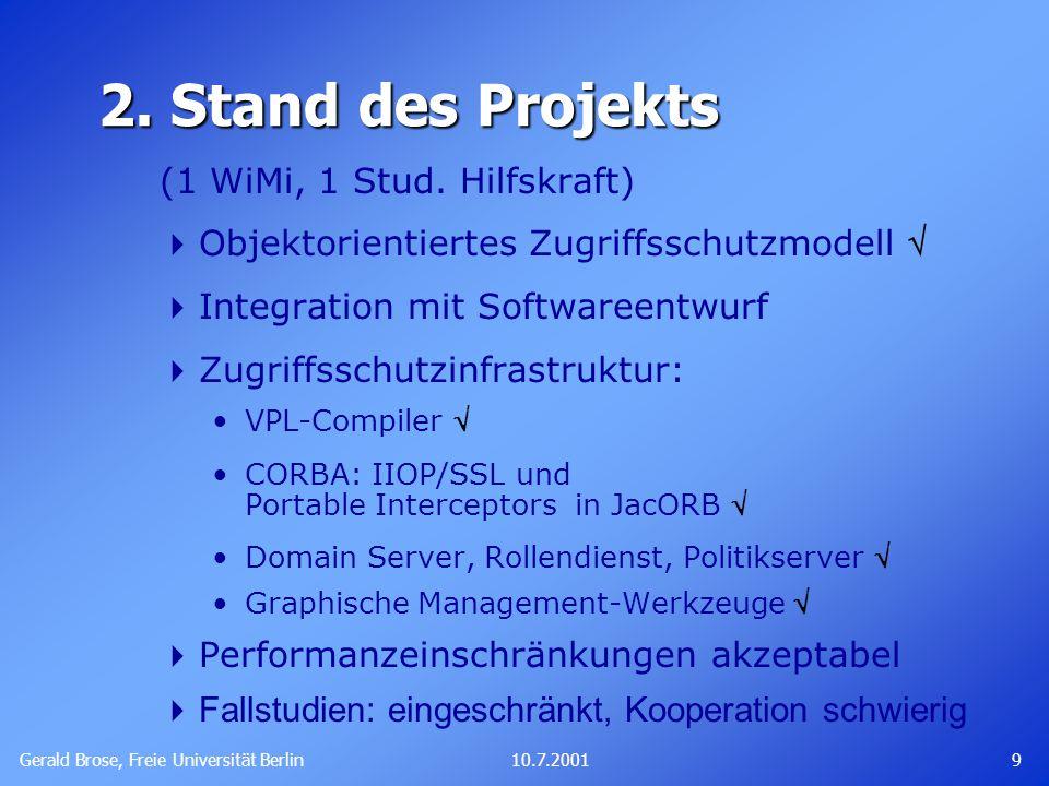 Gerald Brose, Freie Universität Berlin 910.7.2001 2.