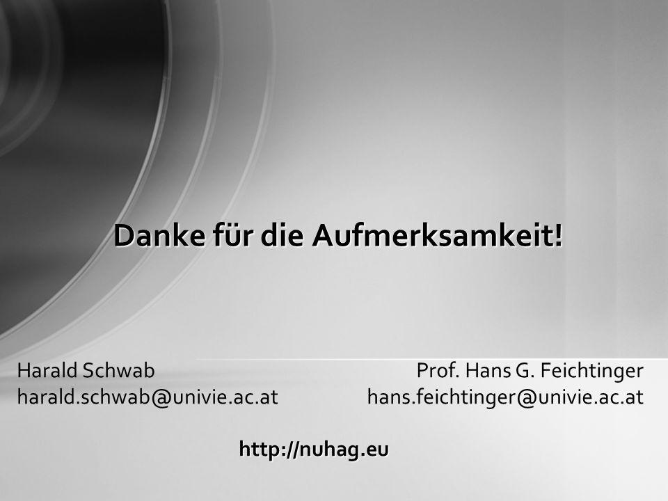 Danke für die Aufmerksamkeit. Harald Schwab harald.schwab@univie.ac.at Prof.
