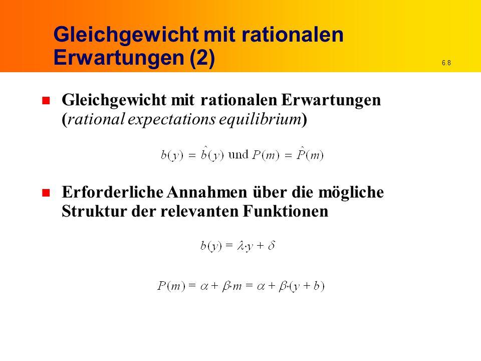6.49 Lösung Schritt 2 n Ermittlung von b Nächste zeitlich vorgelagerte Entscheidung b(x 1 ) x 1 realisiert – Agent trägt nur noch mit x 2 verbundenes Risiko Notwendige Risikoprämie zu diesem Zeitpunkt (Berücksichtigung oben in zweiter Klammer) Optimale Bilanzpolitik