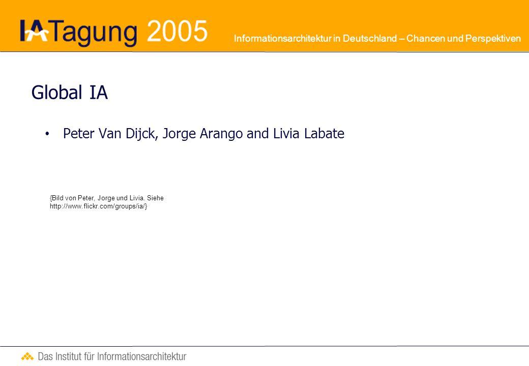 Informationsarchitektur in Deutschland – Chancen und Perspektiven Global IA Kontext : Globalisierungsstrategien in der Web-Domäne im Rahmen von multikulturellen und mehrsprachigen Projekten g11n = i18n + l10n