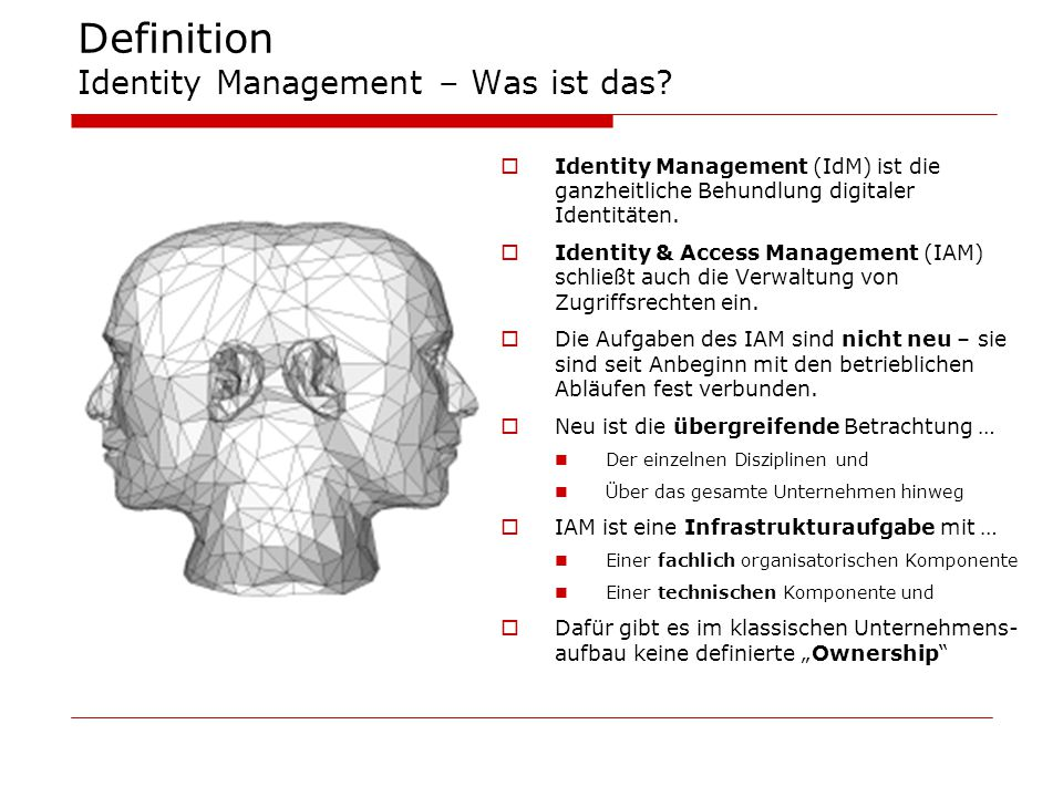 Definition Identity Management – Was ist das.