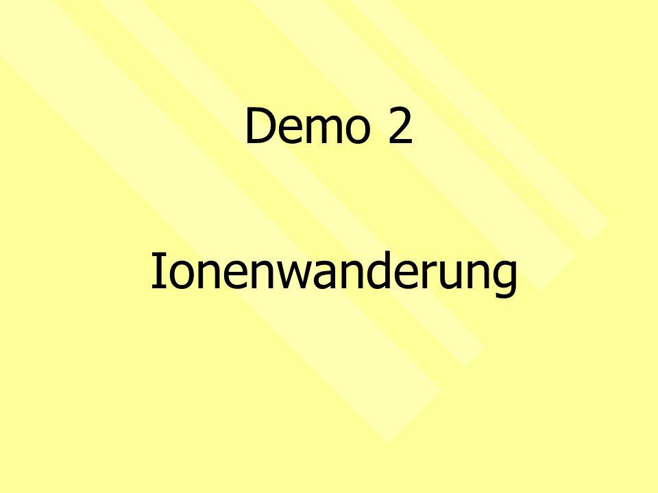 Demo 2 Ionenwanderung