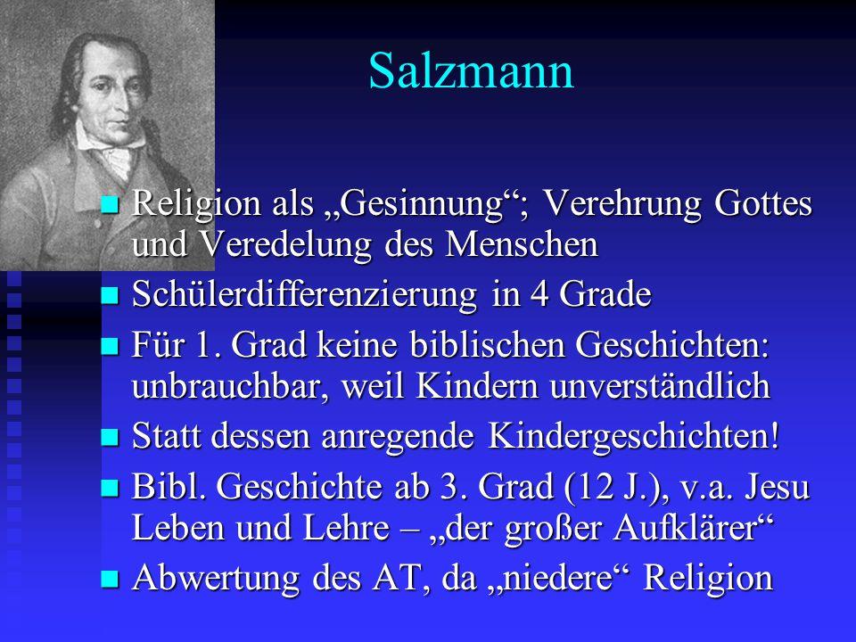 """Salzmann Religion als """"Gesinnung""""; Verehrung Gottes und Veredelung des Menschen Religion als """"Gesinnung""""; Verehrung Gottes und Veredelung des Menschen"""