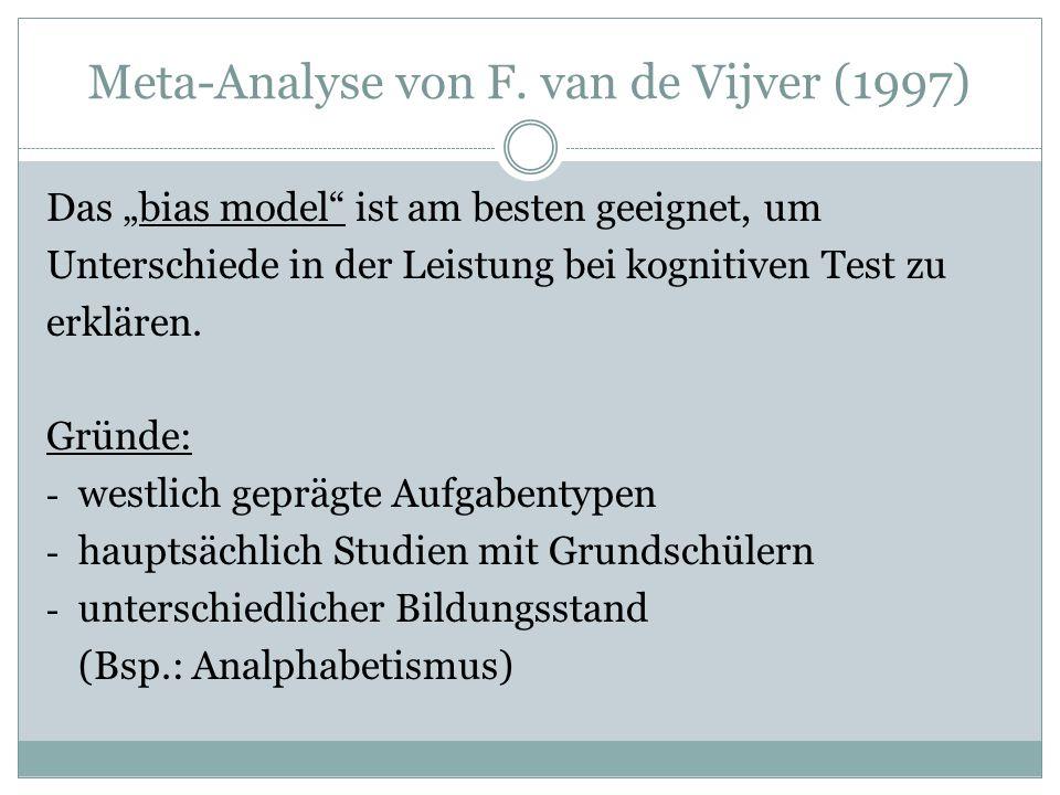Meta-Analyse von F.