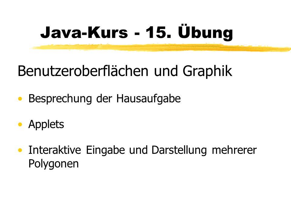 Java-Kurs - 15.