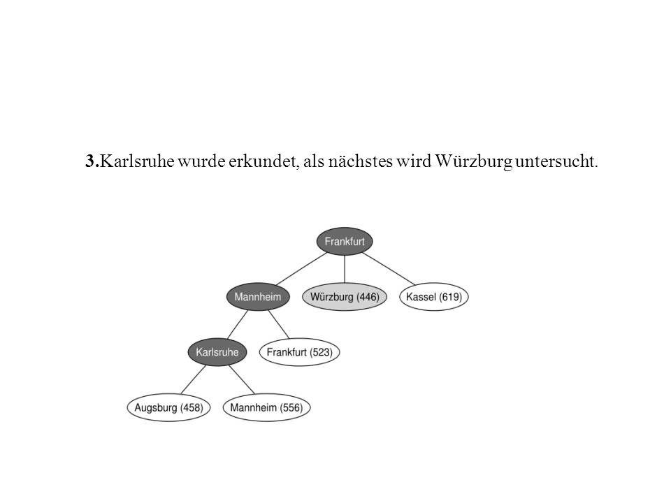 3.Karlsruhe wurde erkundet, als nächstes wird Würzburg untersucht.