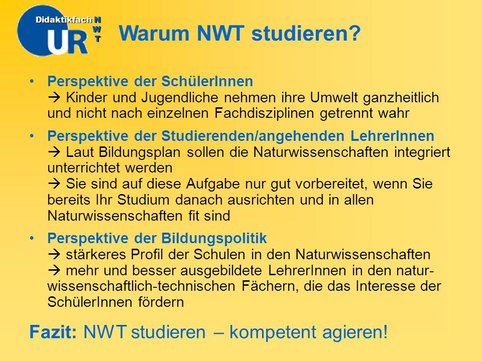 Wie NWT studieren.