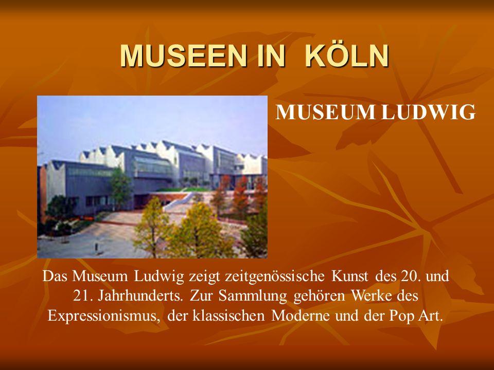 Das Museum Ludwig zeigt zeitgenössische Kunst des 20.