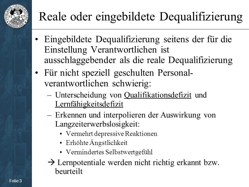 Folie 4 Dequalifizierung: Soft-Skills Soft-Skills: überfachliche Qualifikationen (z.B.