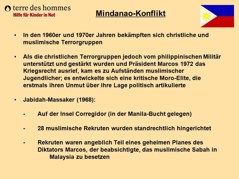 In den 1960er und 1970er Jahren bekämpften sich christliche und muslimische Terrorgruppen Als die christlichen Terrorgruppen jedoch vom philippinische